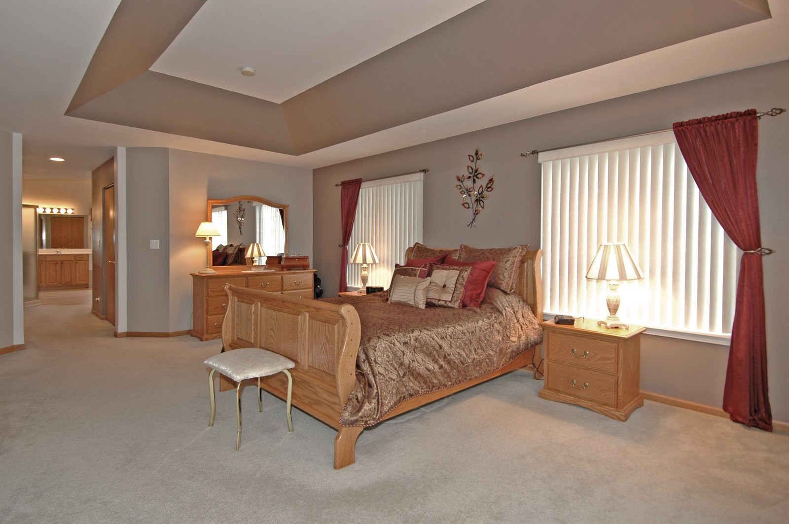 Real Estate Photography - 10943 Concord, Huntley, IL, 60142 - Master Bedroom