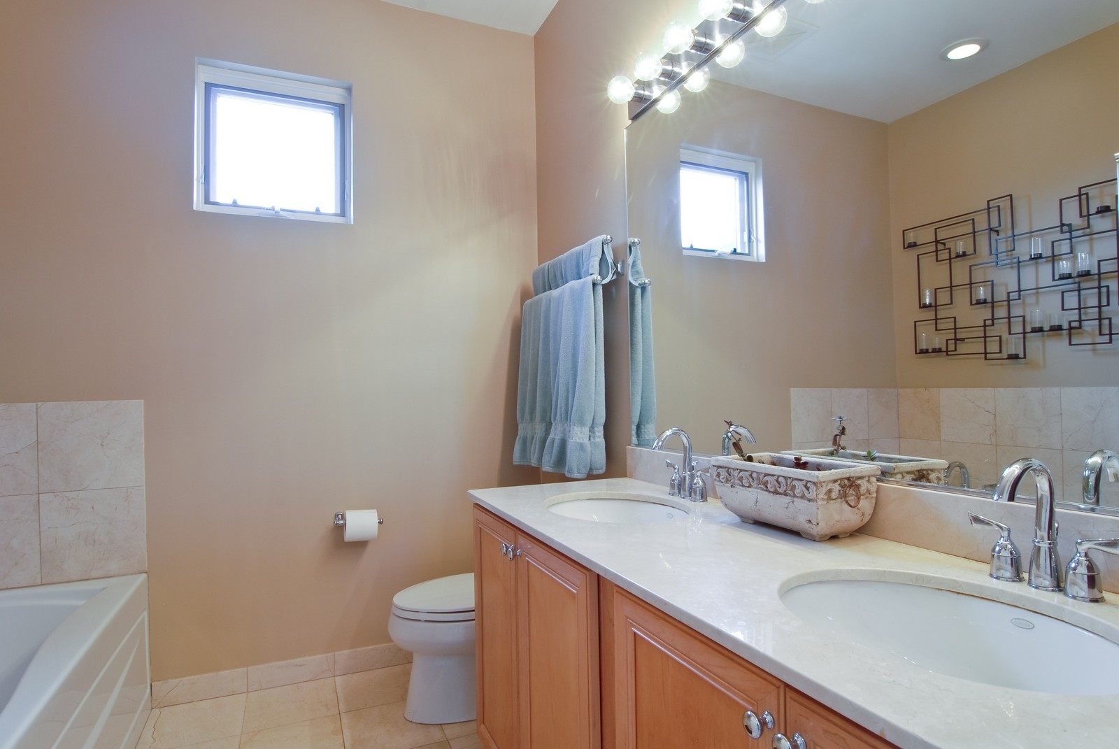 Real Estate Photography - 1413 W Grand, B, Chicago, IL, 60642 - Master Bathroom