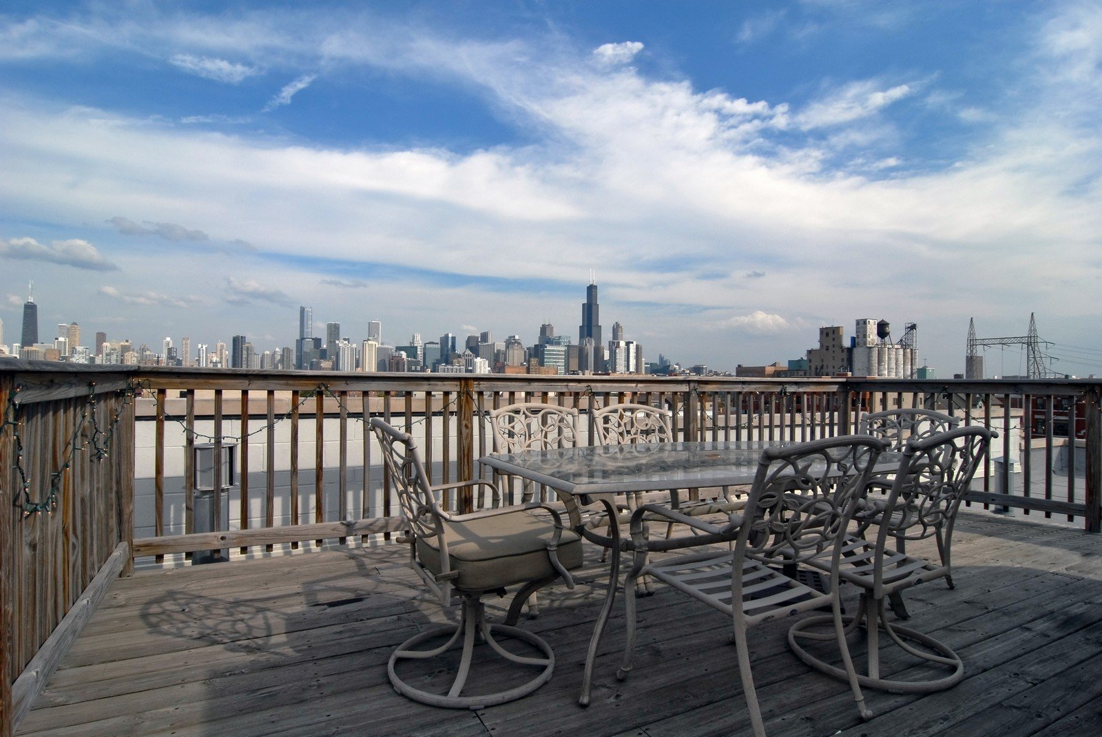 Real Estate Photography - 1413 W Grand, B, Chicago, IL, 60642 - Roof Deck
