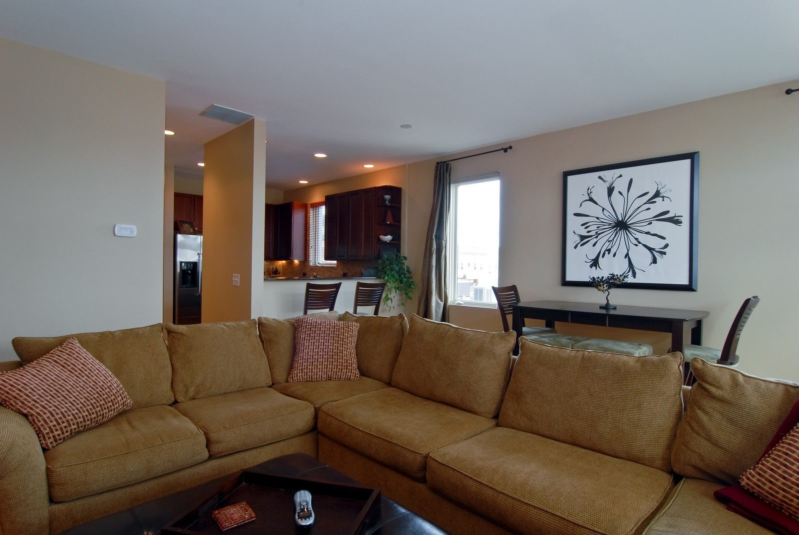 Real Estate Photography - 1413 W Grand, B, Chicago, IL, 60642 - Living Room / Dining Room