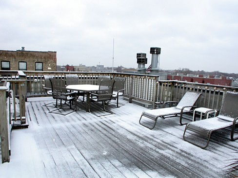 Real Estate Photography - 2358 W Bloomingdale, Unit 4W, Chicago, IL, 60647 - Deck